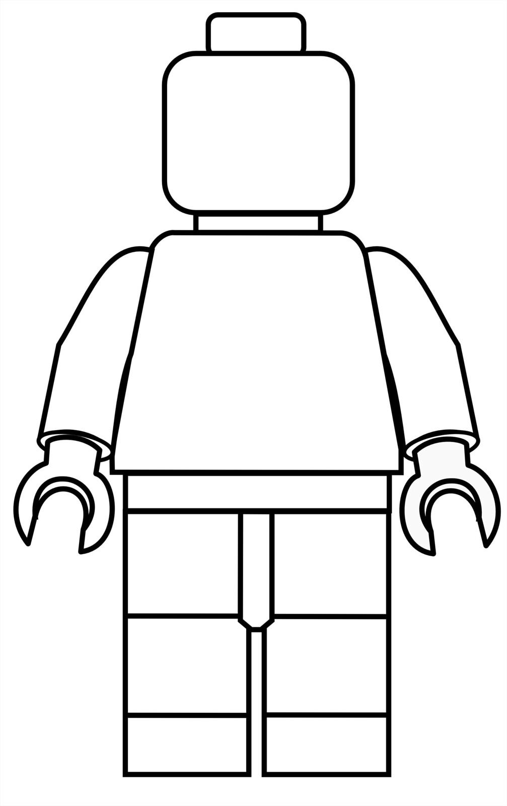 Image of a blank LEGO minifigure