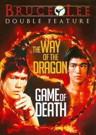 The cover of Game of Death and Way of the Dragon, Bruce Lee martial arts films.