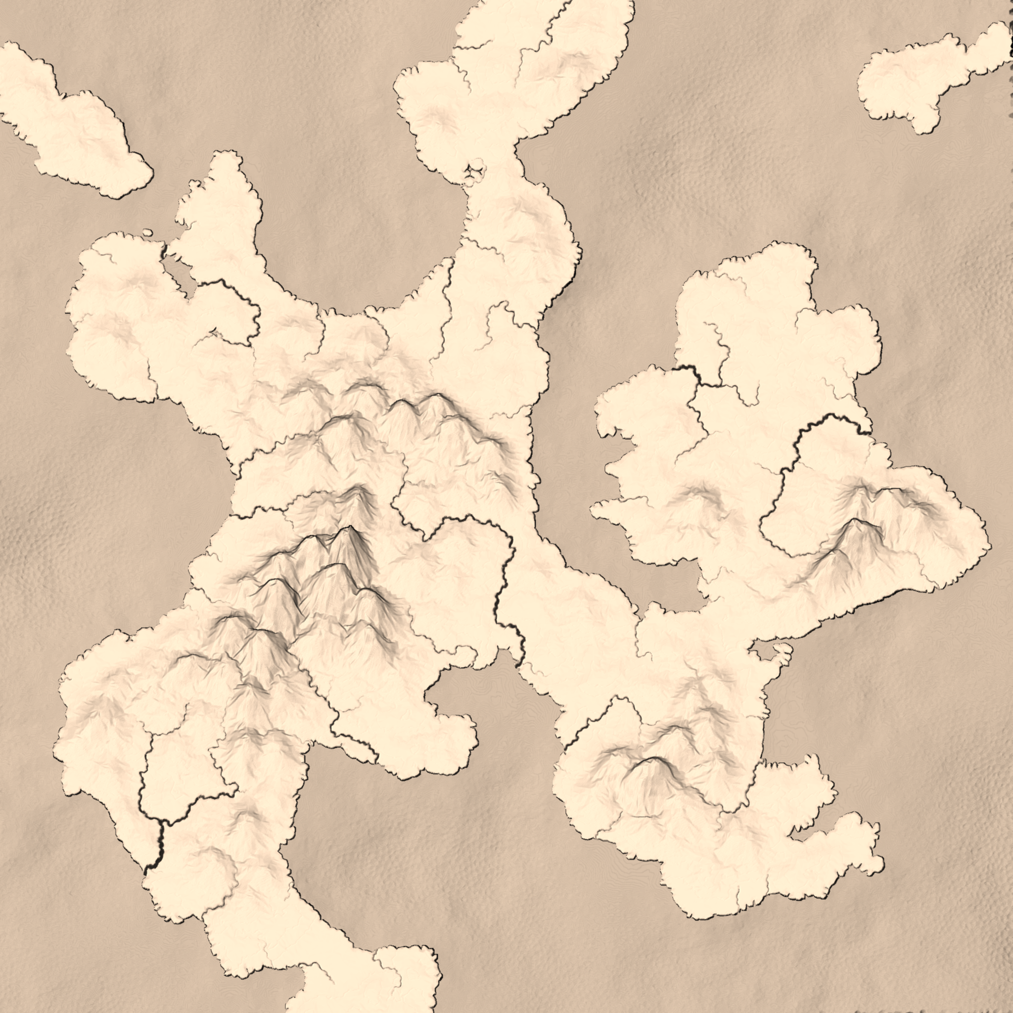 Map from Mapgen4. Seed 228 in sepia