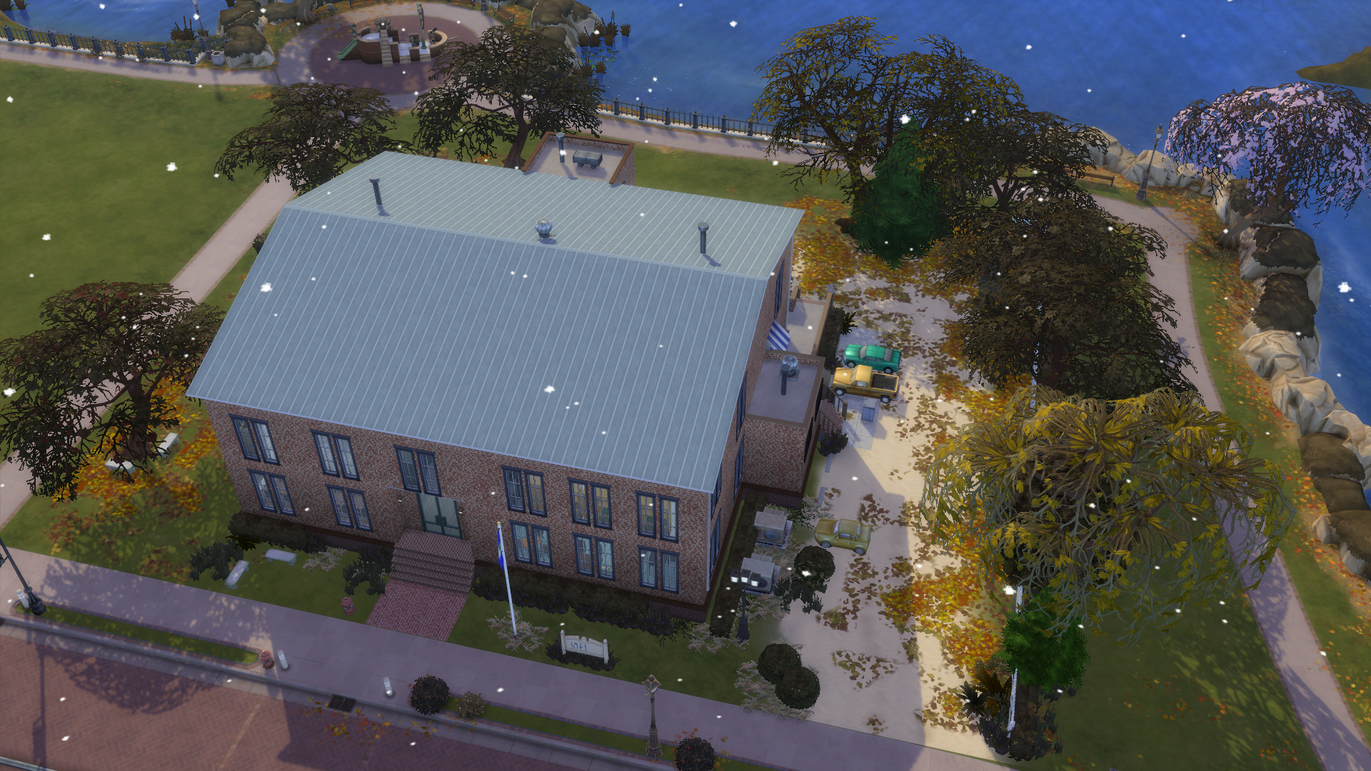 Micanopy Library building as made in the Sims 4 game