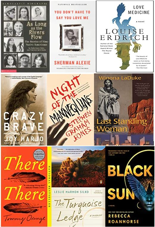 Book cover with Native American men and women