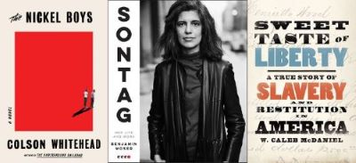 book cover of The nickel Boys, picture of Susan Sontag